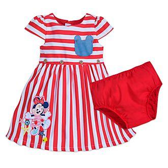 Disney Store Robe Minnie Mouse rayée pour bébé