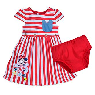 Disney Store Minnie Mouse Striped Baby Dress