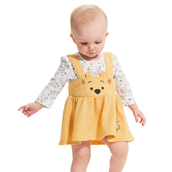Disney Store Winnie the Pooh Baby Dress and Body Suit Set