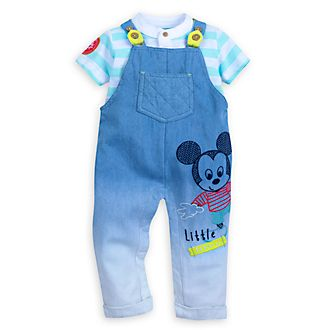 Disney Store Mickey Mouse Baby Top and Dungarees Set