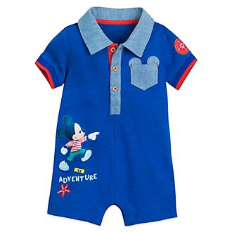 Disney Store Mickey Mouse And Donald Duck Baby Romper d4b17b447a46
