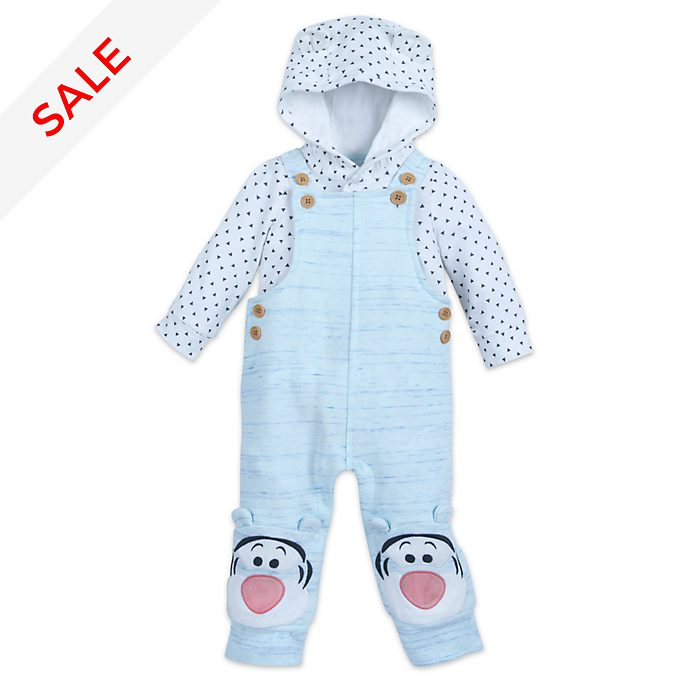 Disney Store Tigger Baby Dungaree and Body Suit Set