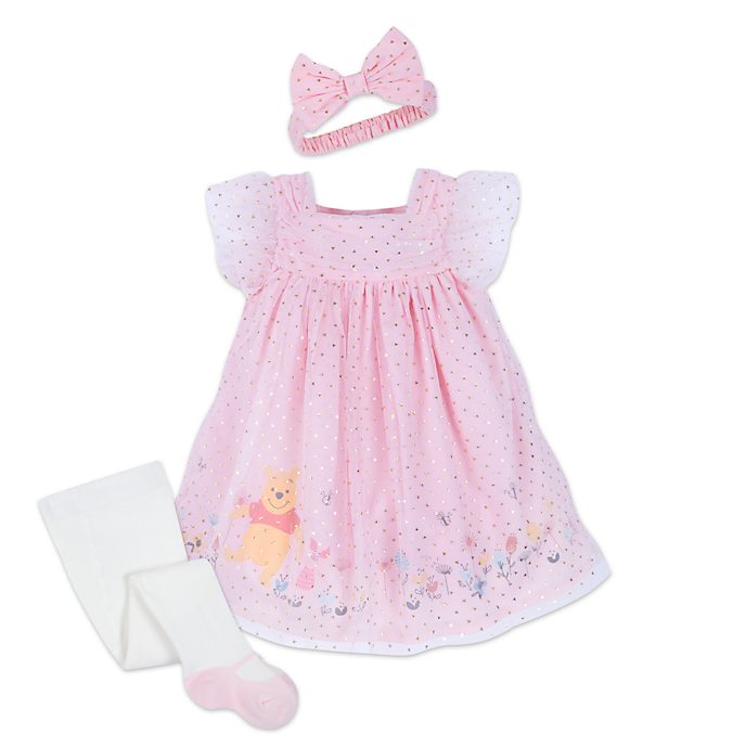 Disney Store Ensemble robe et collants Winnie l'Ourson pour bébé