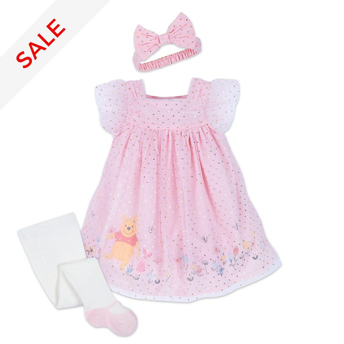 Disney Store Winnie the Pooh Baby Dress and Tights Set