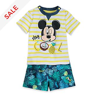 Disney Store Mickey Mouse Baby Top and Shorts Set
