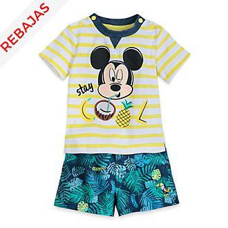 Conjunto camiseta y pantalones cortos Mickey Mouse para bebé, Disney Store
