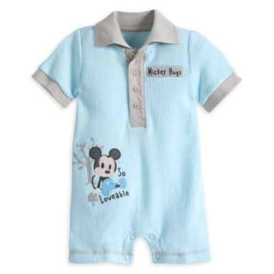 Mickey Mouse sparkedragt i fleece til baby