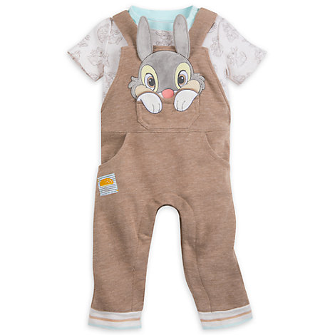 Thumper Baby Dungaree and Body Suit Set