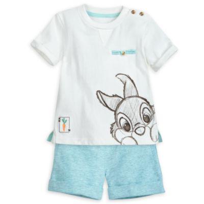 Completo maglietta e pantaloncini baby Tippete