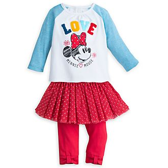 Disney Store Minnie Mouse Baby Top and Leggings Set
