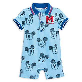 Disney Store Mickey Mouse Short Leg Baby Romper