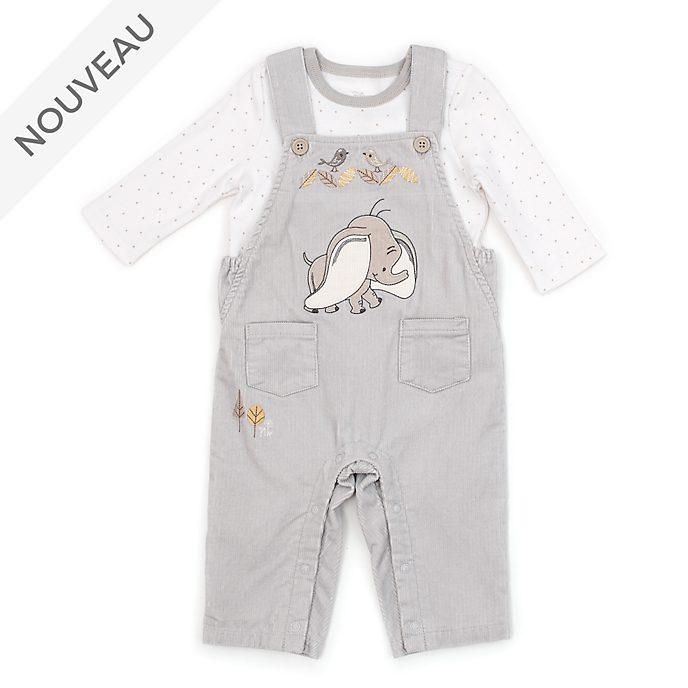 Disney Store Ensemble t-shirt et salopette Dumbo pour bébé