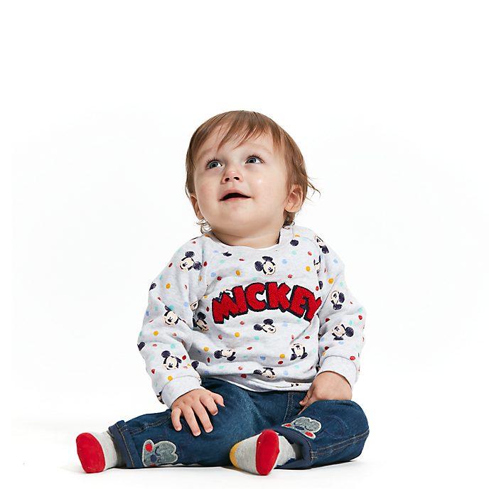 Disney Store Ensemble sweatshirt, jean et chaussettes Mickey Mouse pour bébé