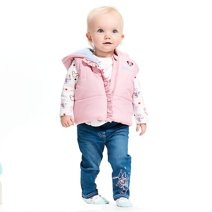 Disney Store Minnie Mouse Baby Gilet, Top and Bottoms Set