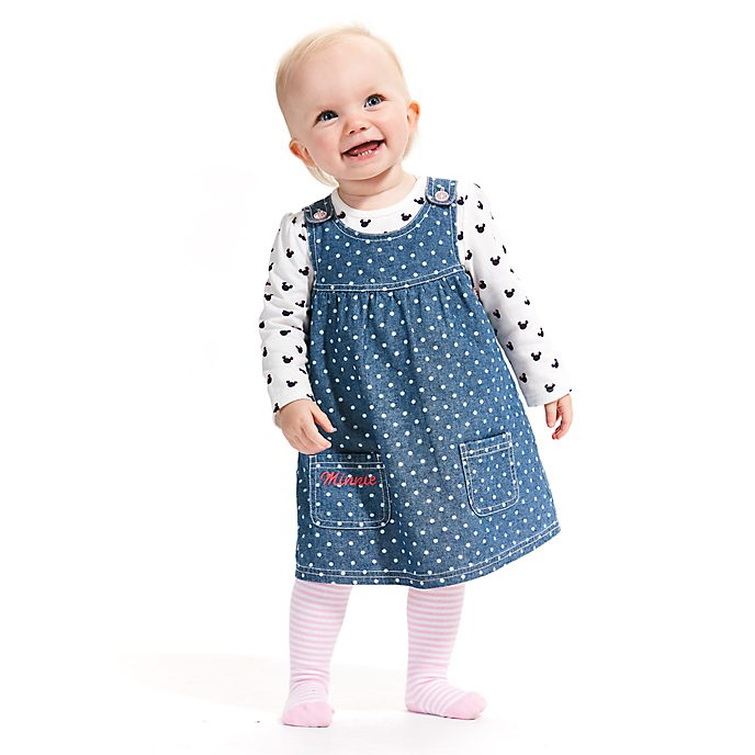 Disney Store Minnie Mouse Baby Pinafore and T-Shirt Set