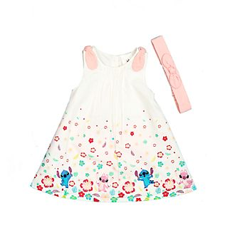 Conjunto vestido y pololos Stitch y Ángel para bebé, Disney Store