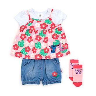 26754bcf8 Conjunto camiseta y pantalones cortos Stitch y Ángel para bebé, Disney Store