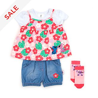 Disney Store Stitch and Angel Baby Top and Shorts Set
