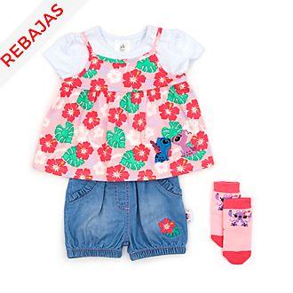 Conjunto camiseta y pantalones cortos Stitch y Ángel para bebé, Disney Store
