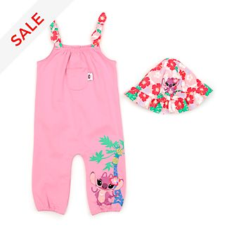 Disney Store Angel Baby Dungaree and Hat Set