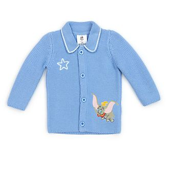 Disney Store - Dumbo - Gestrickte Babyjacke in blau