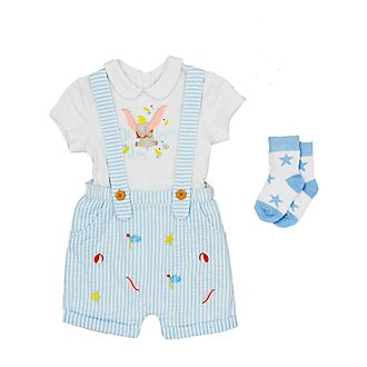 Disney Store Dumbo Baby Dungaree, Top and Socks Set