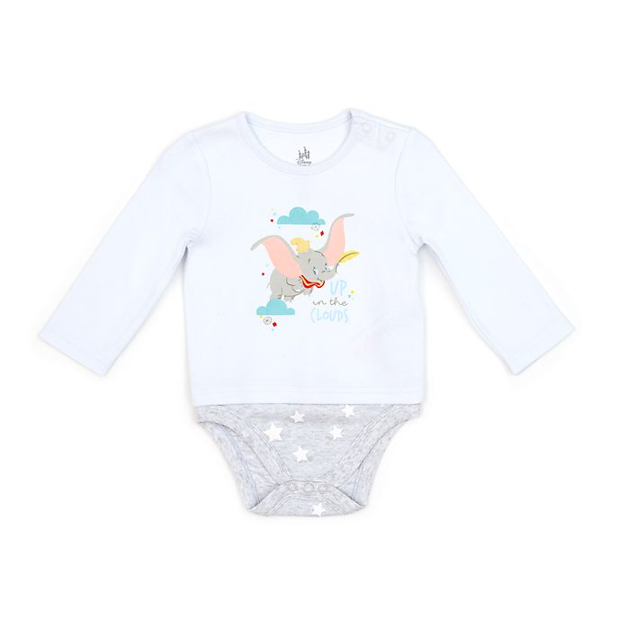 Disney Store Dumbo Grey Baby Body Suit