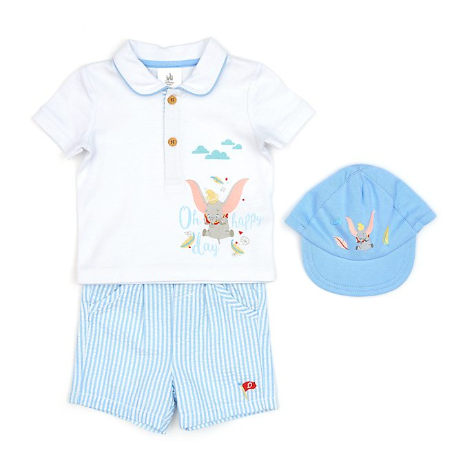 Disney Store Dumbo Baby Shirt, Shorts and Hat Set