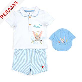 Conjunto camiseta, pantalones cortos y gorro Dumbo para bebé, Disney Store