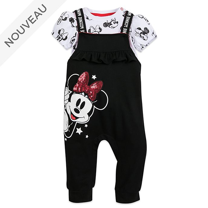 Disney Store Ensemble body et salopette Minnie pour bébé