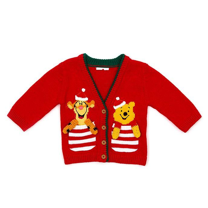 Disney Store Cardigan de Noël Winnie l'Ourson et Tigrou pour bébés, Share the Magic