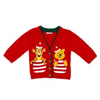 Disney Store - Share the Magic - Winnie Puuh und Tigger - Weihnachtliche Strickjacke für Babys