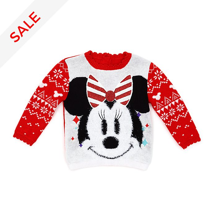 Disney Store Minnie Mouse Share the Magic Baby Christmas Jumper