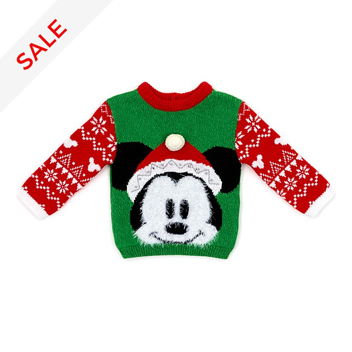 Disney Store Mickey Mouse Share the Magic Baby Christmas Jumper