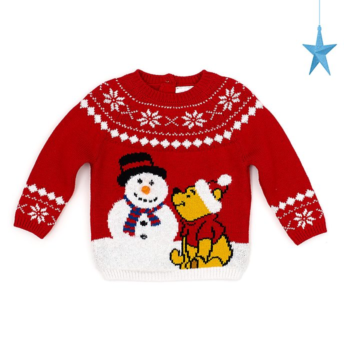 Disney Store Pull Winnie l'Ourson pour bébé, collection Holiday Cheer