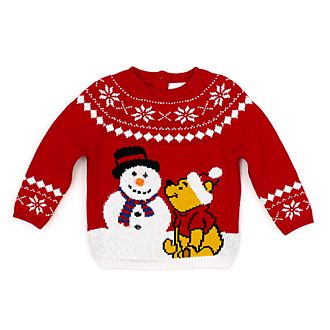 Disney Store Winnie the Pooh Holiday Cheer Baby Jumper