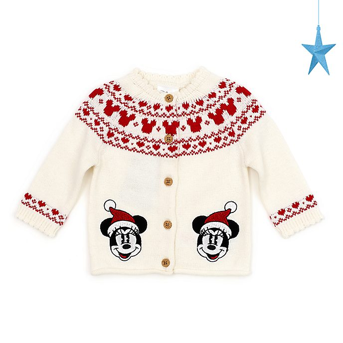 Disney Store - Holiday Cheer - Minnie Maus - Baby-Strickjacke