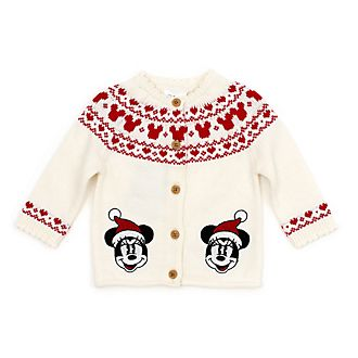 Disney Store Cardigan Minnie pour bébé, collection Holiday Cheer