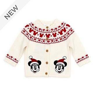 Disney Store Minnie Mouse Holiday Cheer Baby Cardigan