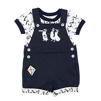 Disney Store Mary Poppins Returns Baby Dungaree and Body Suit Set