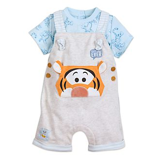 Disney Store Tigger Baby Dungaree and T-Shirt Set