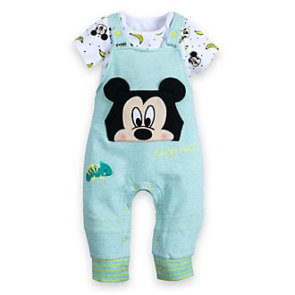 Disney Store Mickey Mouse Baby Dungaree and Body Suit Set