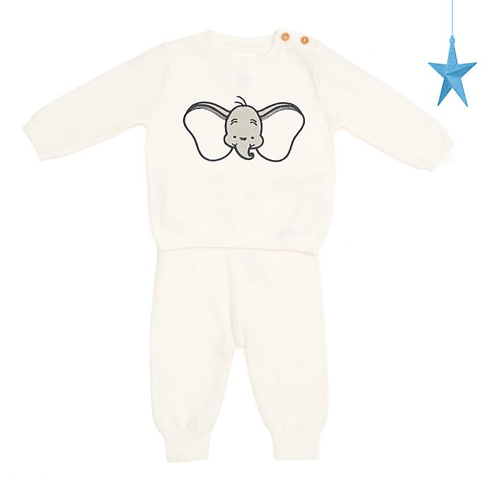Disney Store Dumbo Baby Knitted Top and Bottoms Set