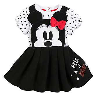 Disney Store Minnie Mouse Baby Dress and Body Suit Set