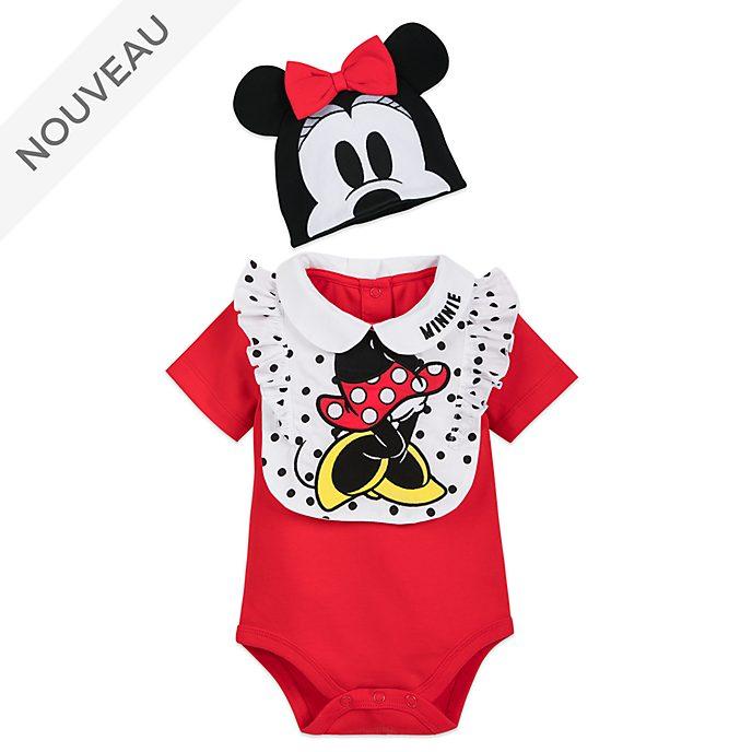 Disney Store Ensemble body et bavoir Minnie pour bébé