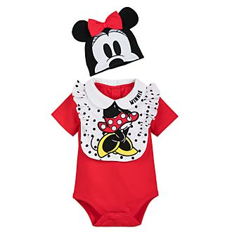 Disney Store Minnie Mouse Baby Body Suit and Bib Set