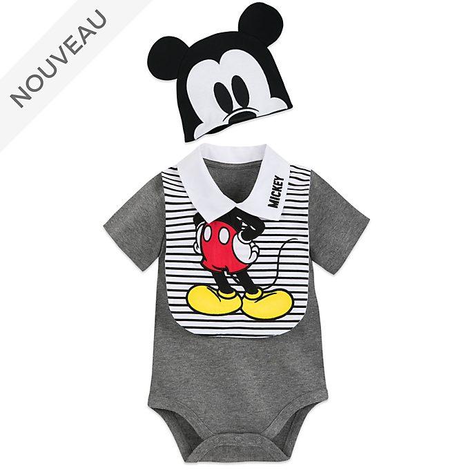 Disney Store Ensemble body et bavoir Mickey pour bébé