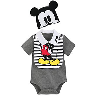 Disney Store Mickey Mouse Baby Body Suit and Bib Set
