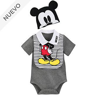 Conjunto de body y babero para bebé Mickey Mouse, Disney Store