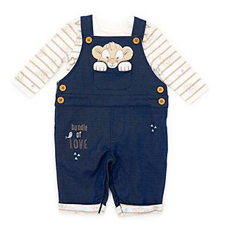 Disney Store Simba Baby Dungaree and Body Suit Set